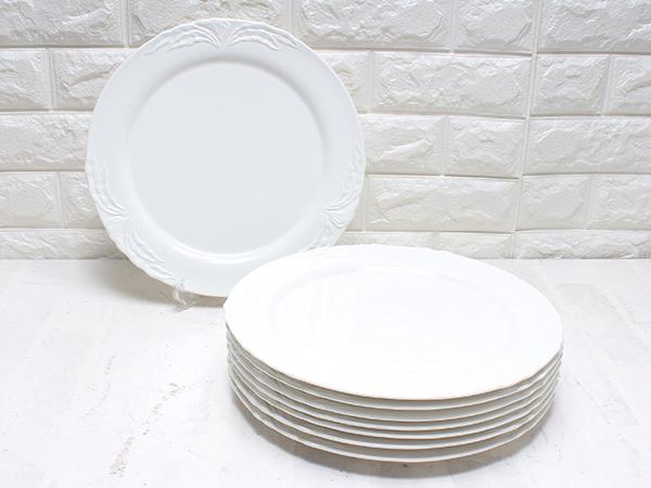 ビレロイ&ボッホ フォグリア 32cm プラター プレート 8枚 ホワイト 大皿 Villeroy&Boch【中古】