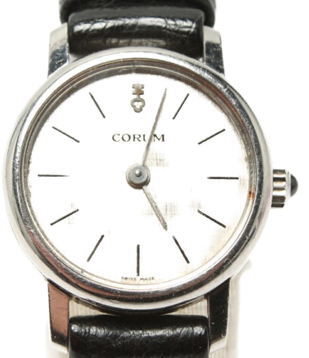 コルム 16183 184294 手巻き 腕時計 シルバー CORUM レディース【中古】