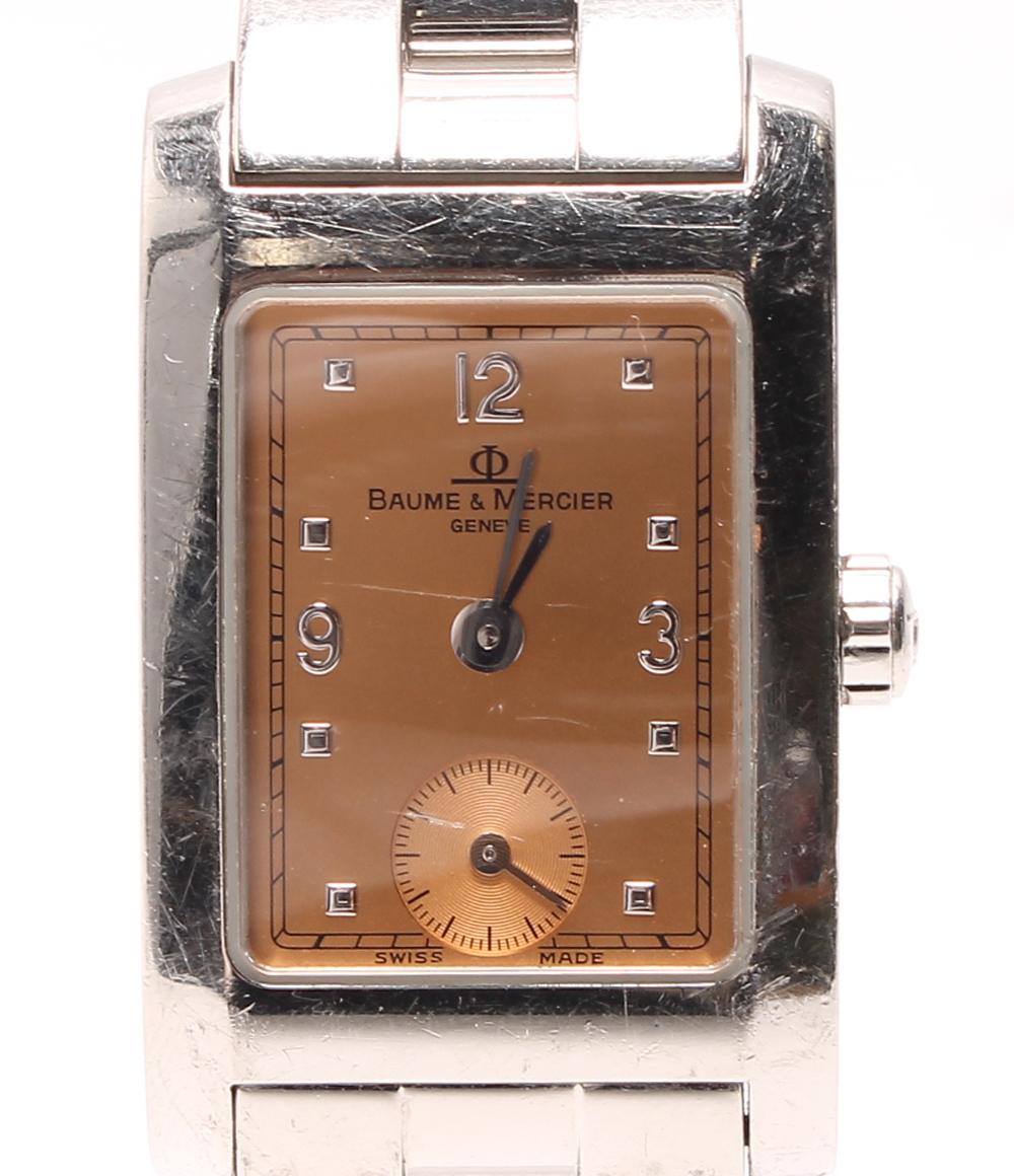 ボームアンドメルシエ ハンプトン MV045139 クォーツ 腕時計 スモセコ スモールセコンド オレンジ BAUME&MERCIER レディース 【中古】