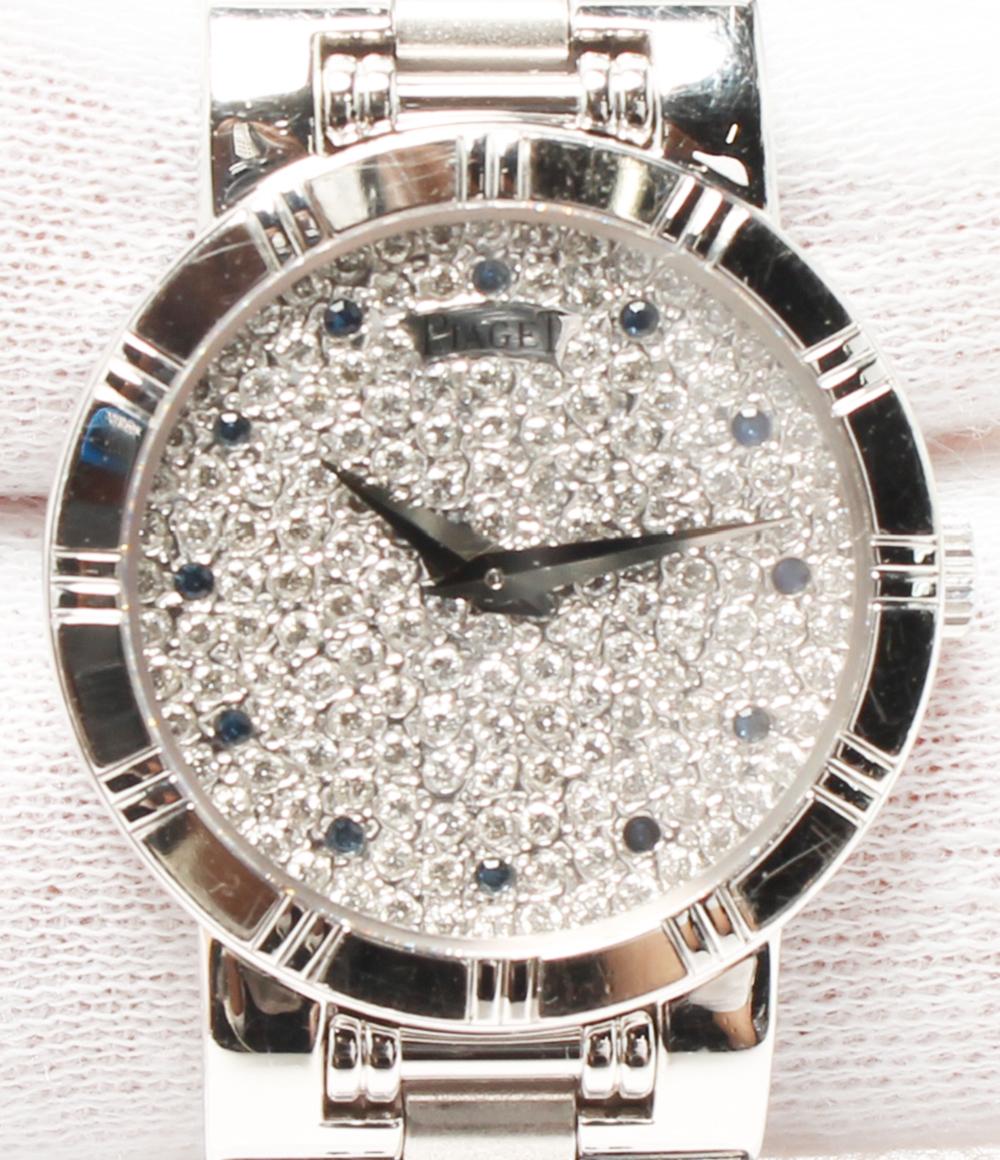 美品 ピアジェ 腕時計 ダンサー 80563 クオーツ シルバー ダイヤ PIAGET レディース 【中古】