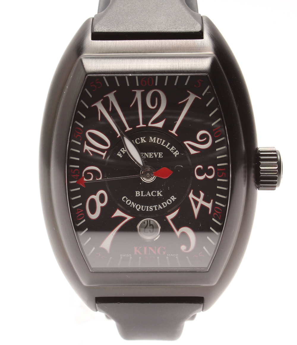 若者の大愛商品 【】美品 フランクミュラー コンキスタドール キング 8005KSCNR 自動巻き AT 腕時計 フランクミュラー 腕時計 AT ラバーベルト ブラック FRANCK MULLER メンズ, 腕時計FAN:43fd683b --- baecker-innung-westfalen-sued.de