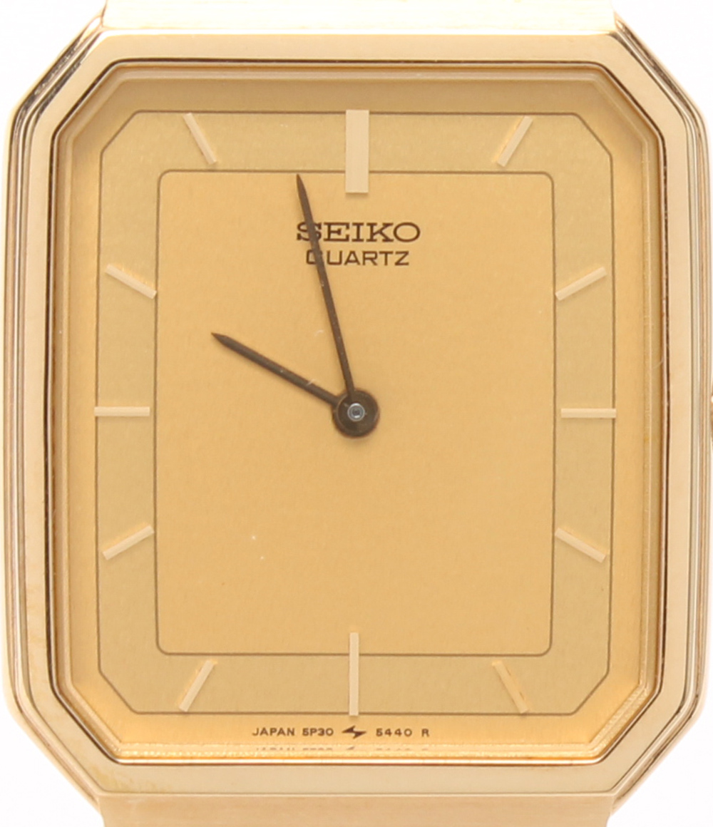 美品 セイコー 時計 5P30-5290 クォーツ シャンパン SEIKO メンズ 【中古】