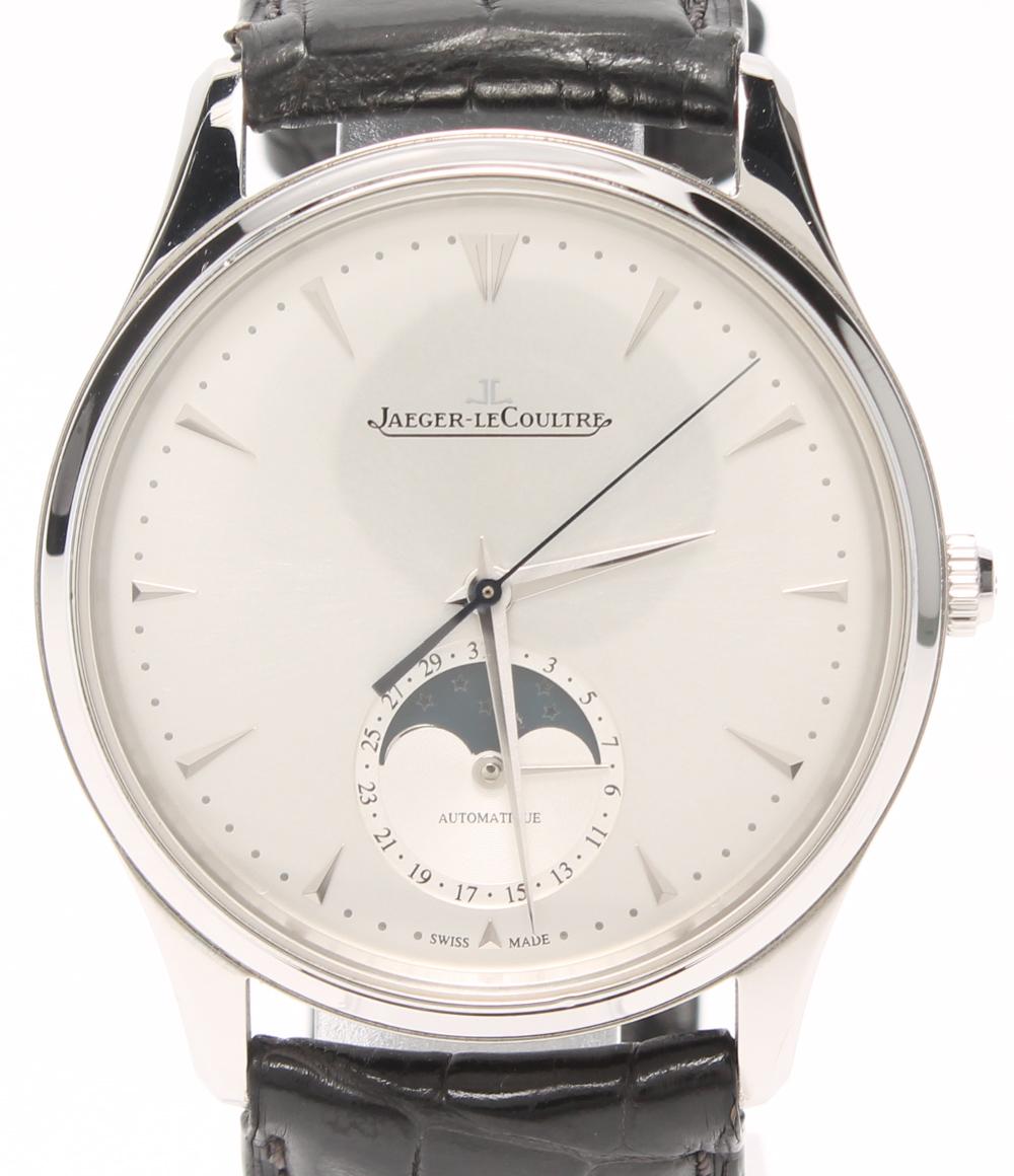 ジャガールクルト 腕時計 マスターウルトラスリム ムーン39 Q1368420 自動巻き シルバー JAEGER LECOULTRE メンズ 【中古】