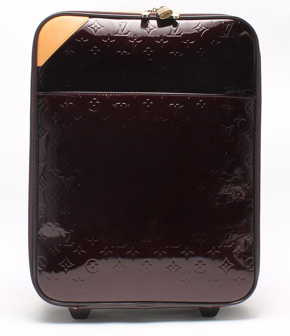 ルイヴィトン キャリーバッグ アマラント ペガス45 ヴェルニ M91277 Louis Vuitton レディース 【中古】
