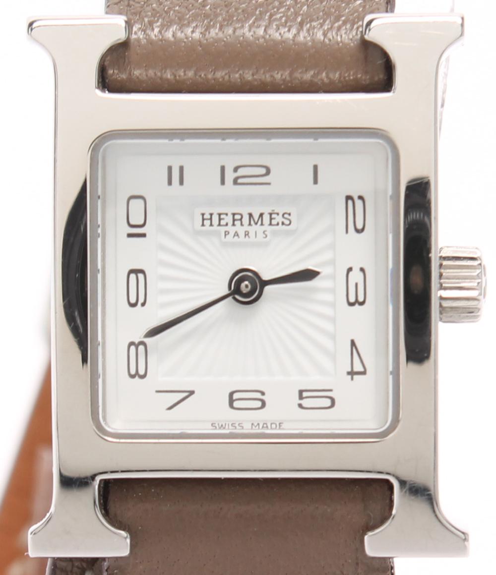 美品 エルメス 腕時計 □P刻印 ミニHウォッチ HH1.110 クォーツ HERMES レディース 【中古】