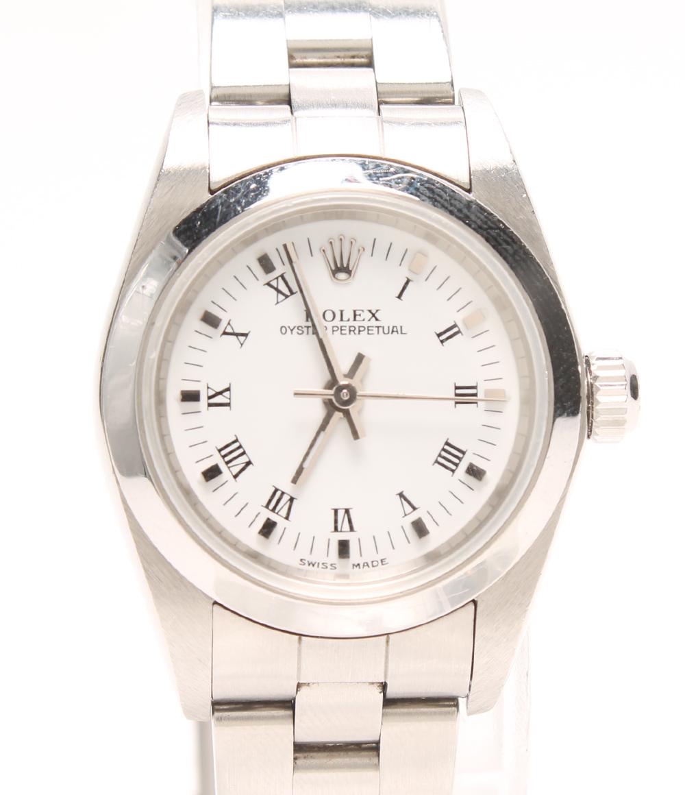 ロレックス 腕時計 オイスターパーペチュアル 76080 自動巻き ROLEX レディース 【中古】