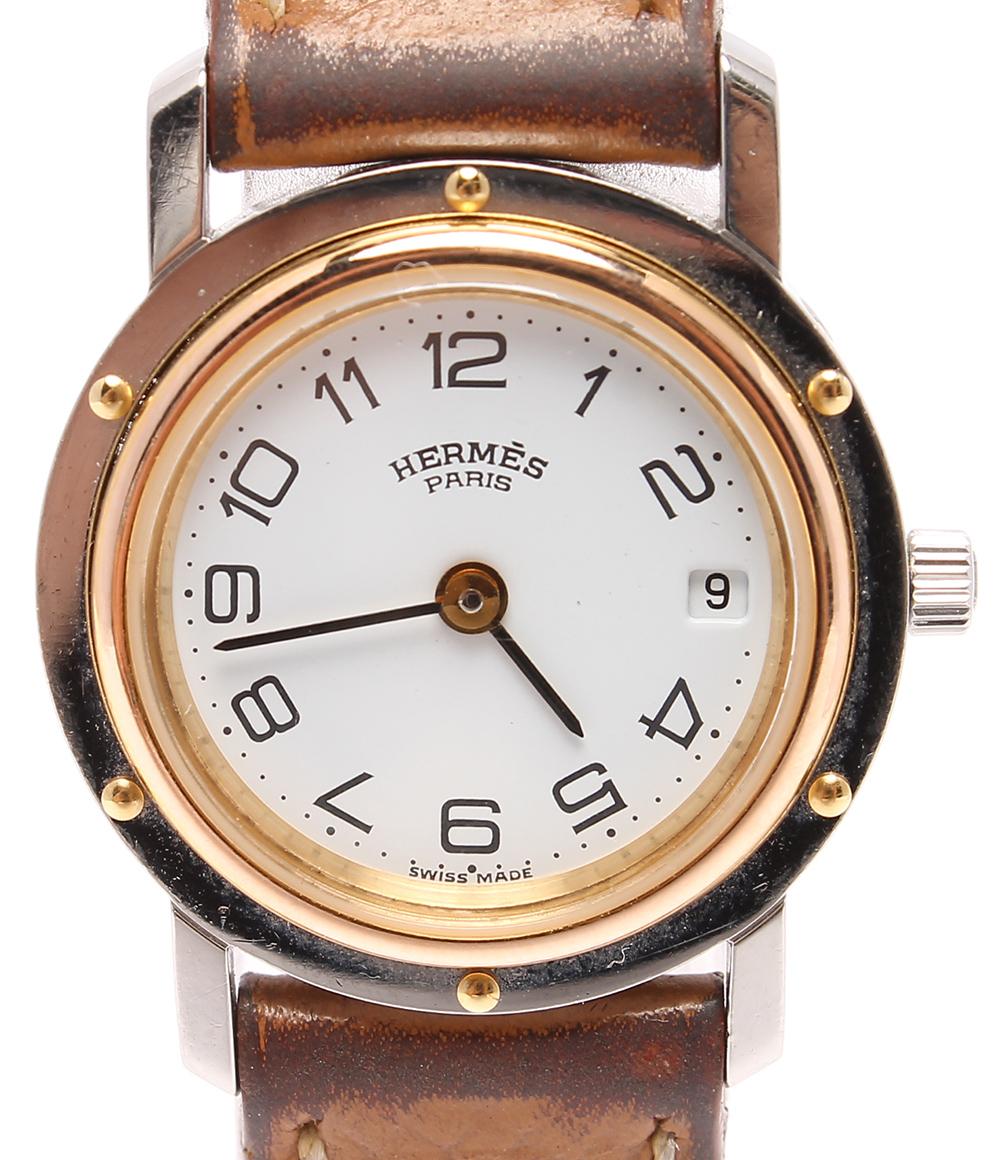 エルメス レディース腕時計 □B刻印 クリッパー クオーツ HERMES 【中古】