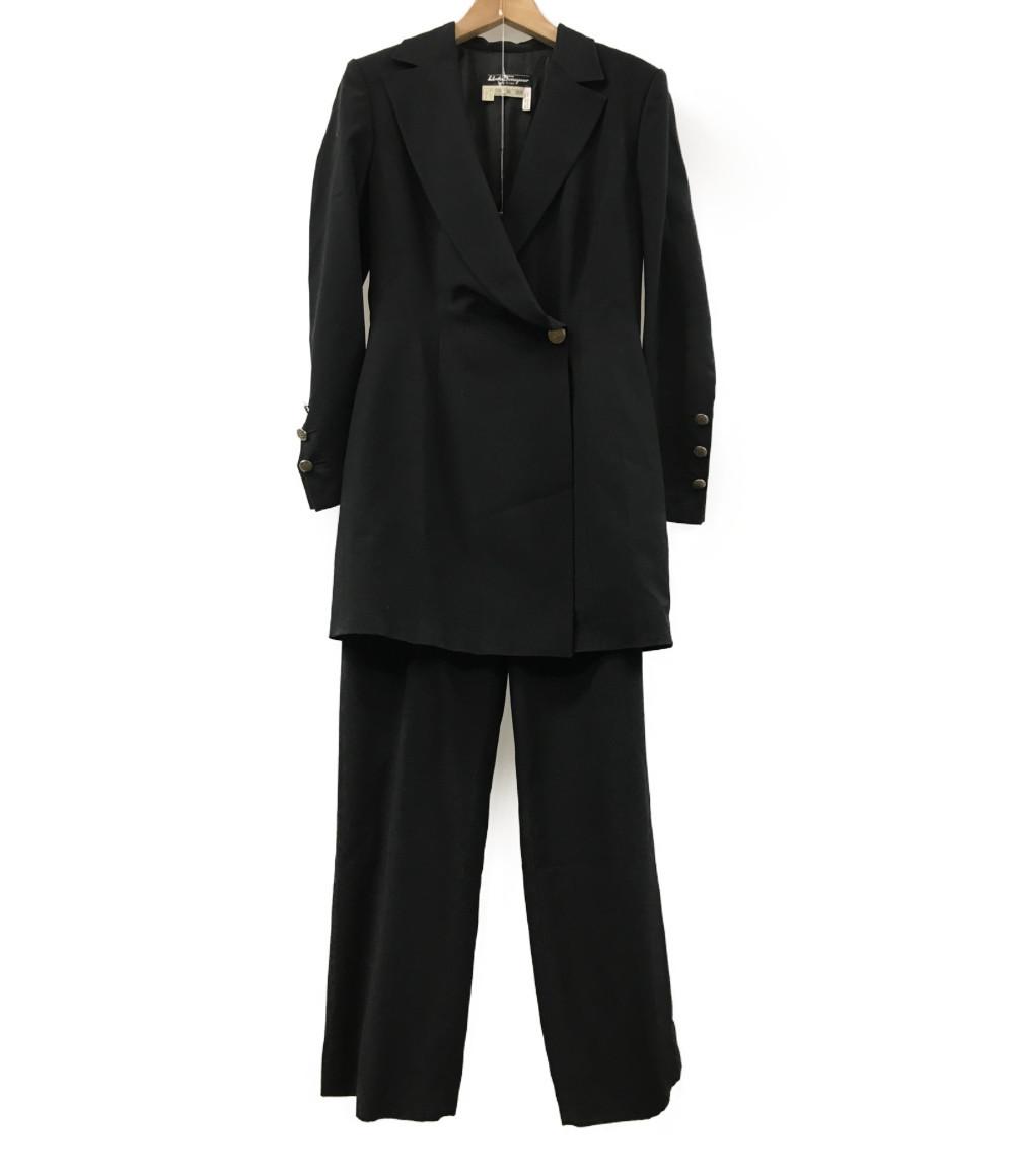 美品 サルバトーレフェラガモ SIZE I 40 (M) パンツスーツ Salvatore Ferragamo レディース 【中古】