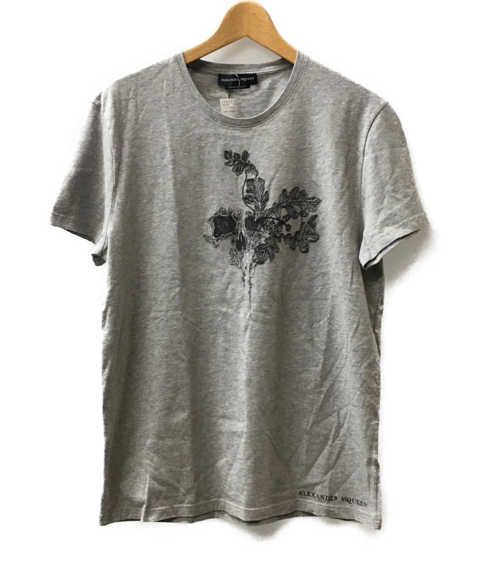 美品 アレキサンダーマックイーン SIZE L (L) 18SS 刺繍半袖Tシャツ QKZ63 Alexander Mcqueen メンズ 【中古】