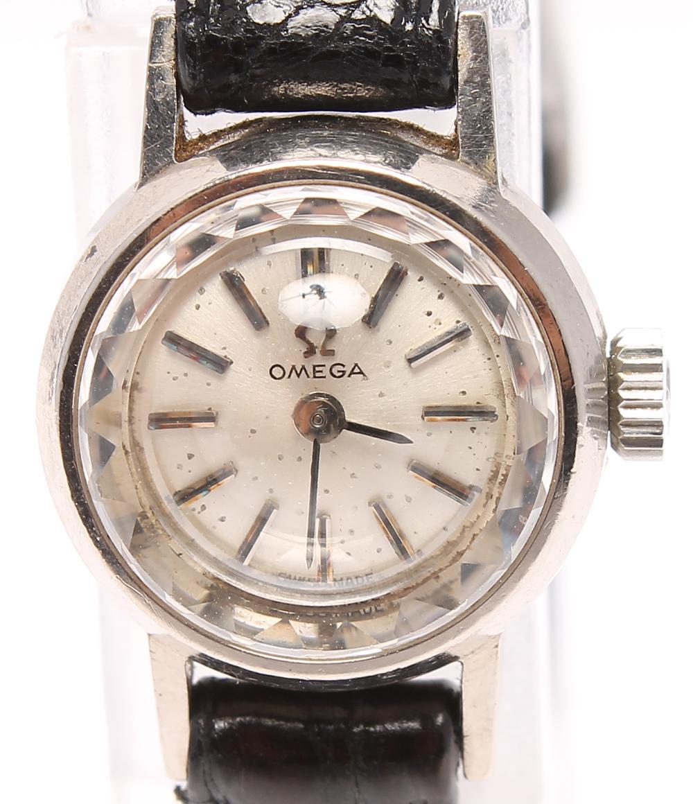 オメガ 腕時計 アンティーク カットガラス 手動巻き OMEGA レディース 【中古】