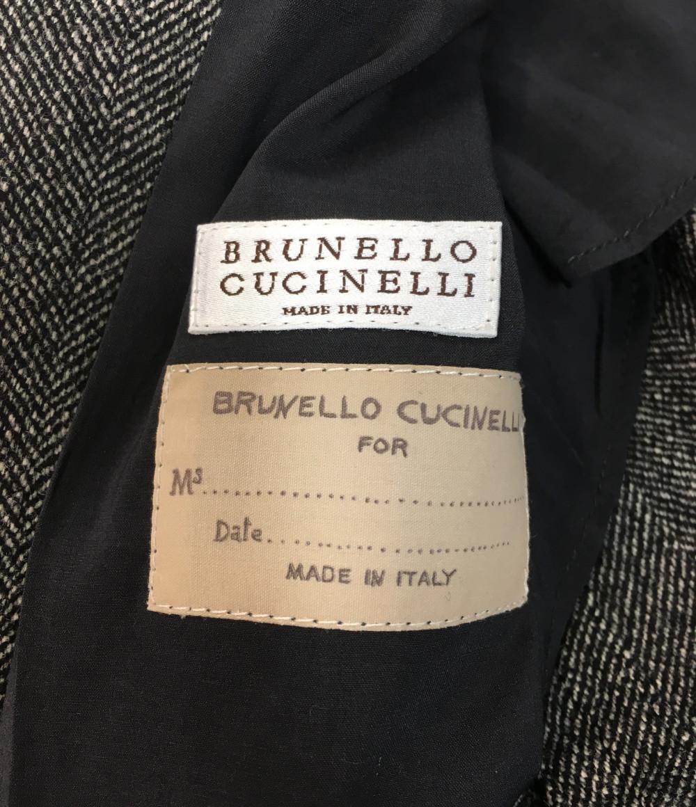 美品 ブルネロクチネリ SIZE 38Sベルト付きテーラードジャケット BRUNELLO CUCINELLI レディースWdQoECxerB