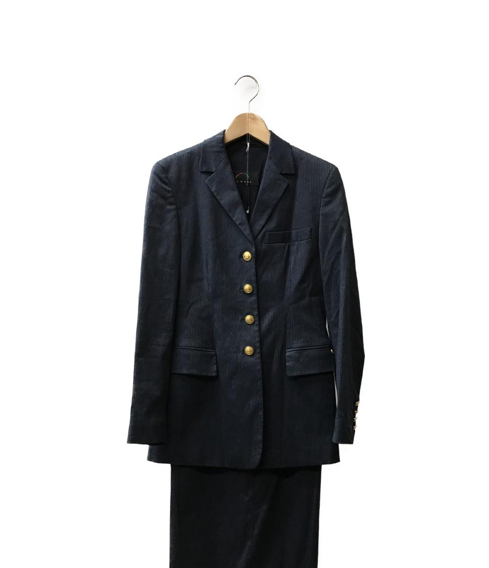 美品 ボグナー SIZE Z 36/H 36 (S) スカートスーツ ストライプ柄 BOGNER レディース 【中古】