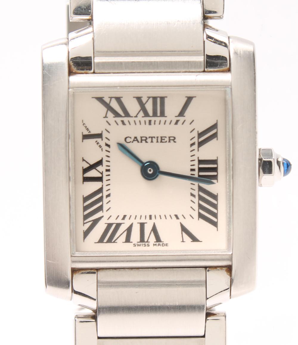 カルティエ タンクフランセーズSM W51008Q3 クォーツ Cartier レディース 【中古】