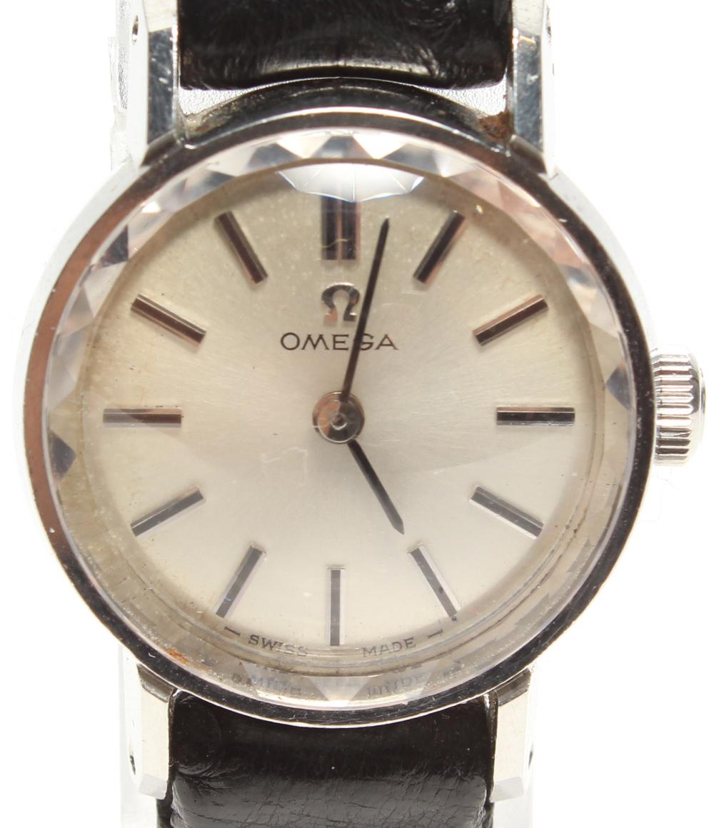 訳あり オメガ 手巻き腕時計 カットガラス 511190 手巻き OMEGA レディース 【中古】