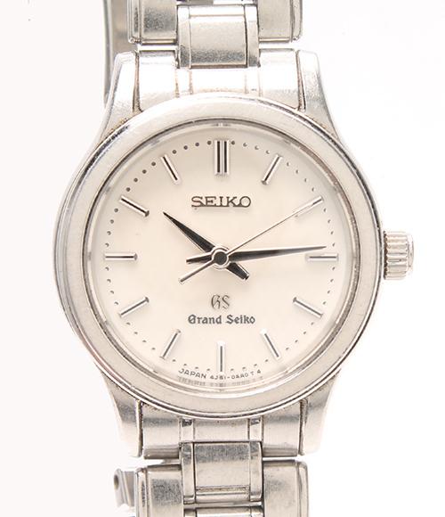 グランドセイコー 腕時計 4J51-0AA0 クオーツ ホワイト Grand Seiko レディース 【中古】