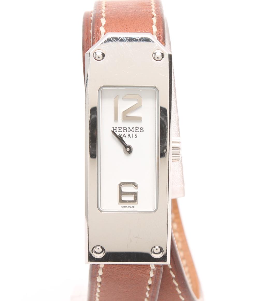 エルメス ケリー2 □I刻(2005年式) KT1.210 クォーツ 腕時計 ケリー2 KT1.210 .130 クオーツ ホワイト HERMES レディース 【中古】