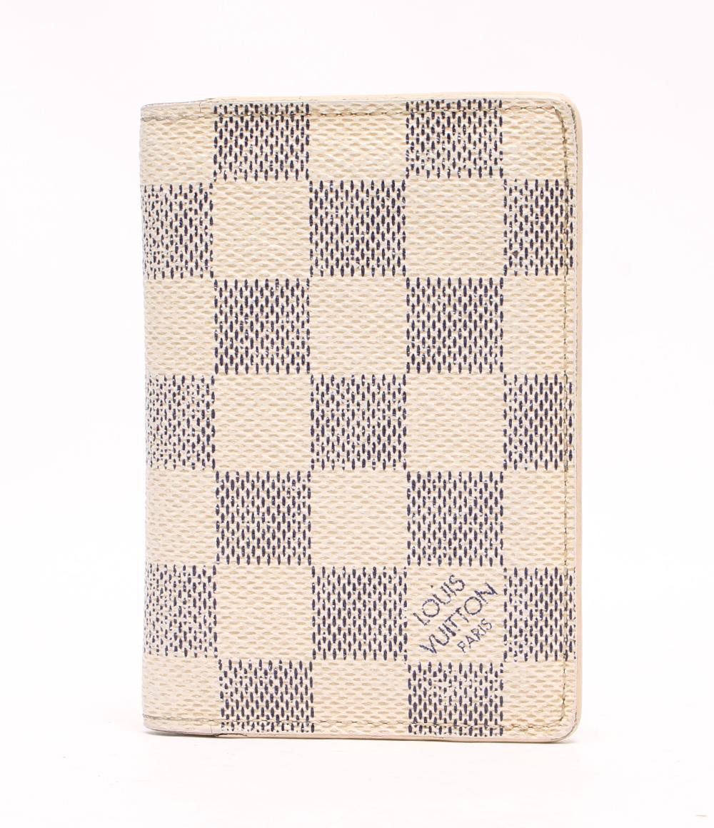 ルイヴィトン カードケース ポケット・オーガナイザー ドゥ・ポッシュ ダミエアズール N63144 Louis Vuitton レディース 【中古】