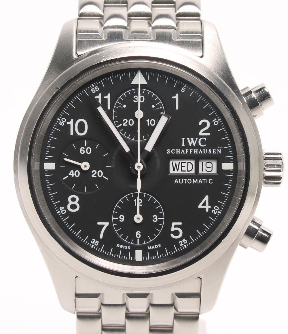 アイダブリューシー 腕時計 フリーガクロノ 自動巻き ブラック IWC メンズ 【中古】