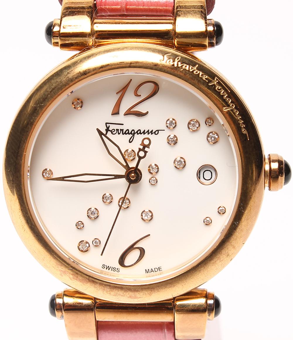 サルバトーレフェラガモ 腕時計 CI2031513 クオーツ Salvatore Ferragamo レディース 【中古】