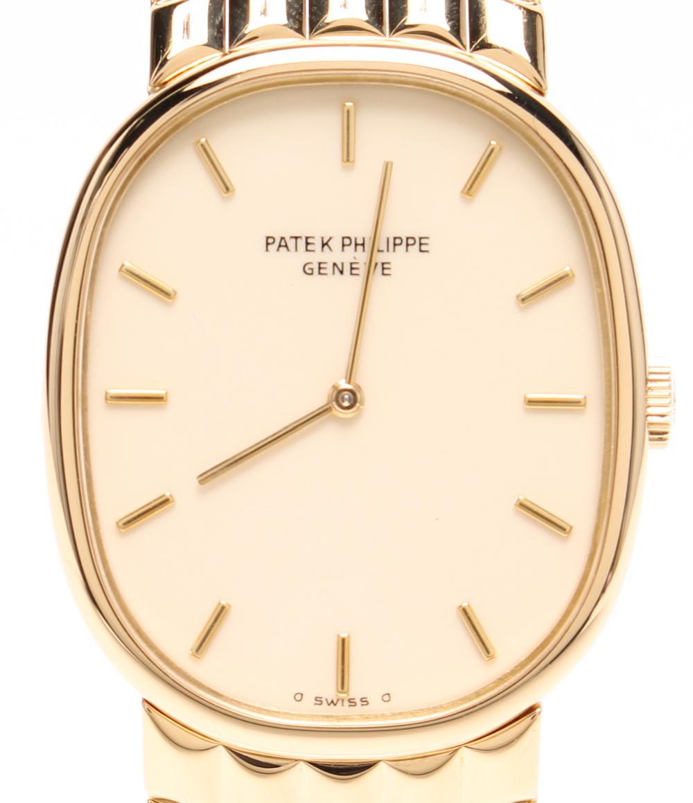 パテックフィリップ 腕時計 ゴールデンエリプス 3848/15 手巻き PATEK PHILIPPE メンズ 【中古】