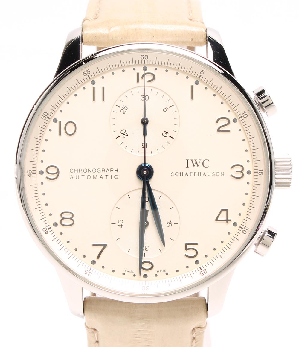 アイダブリューシー 腕時計 ポルトギーゼ クロノグラフ IW371417 自動巻き IWC メンズ 【中古】