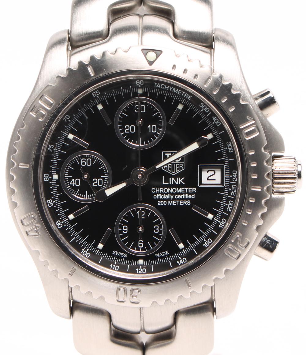 タグホイヤー 腕時計 リンククロノ CT5111 自動巻き ブラック TAG Heuer メンズ 【中古】