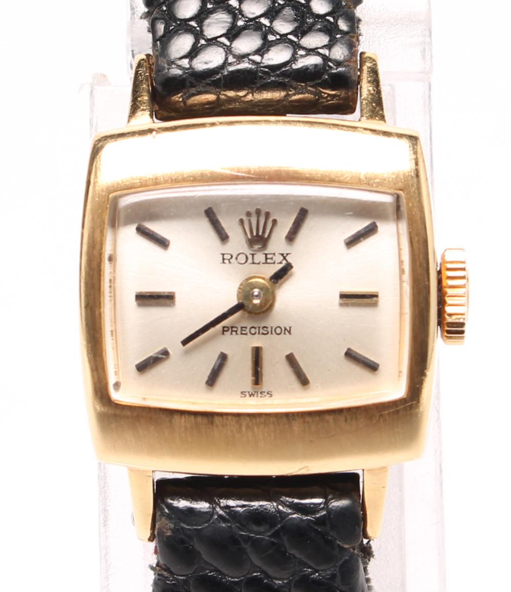 【中古】ロレックス 腕時計 K18YG 手巻き ROLEX レディース