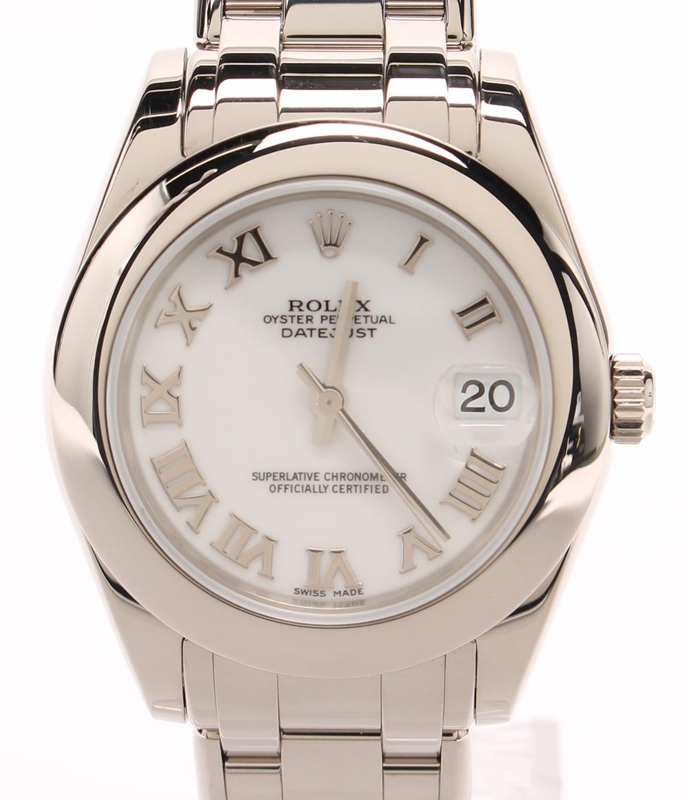 【中古】ロレックス 腕時計 k18WG デイトジャスト・パールマスター 自動巻き 81209 ユニセックス ROLEX