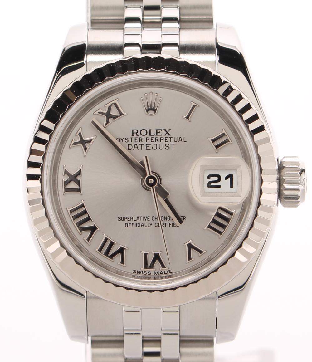 【中古】ロレックス 腕時計 自動巻き シルバー 179174 メンズ ROLEX