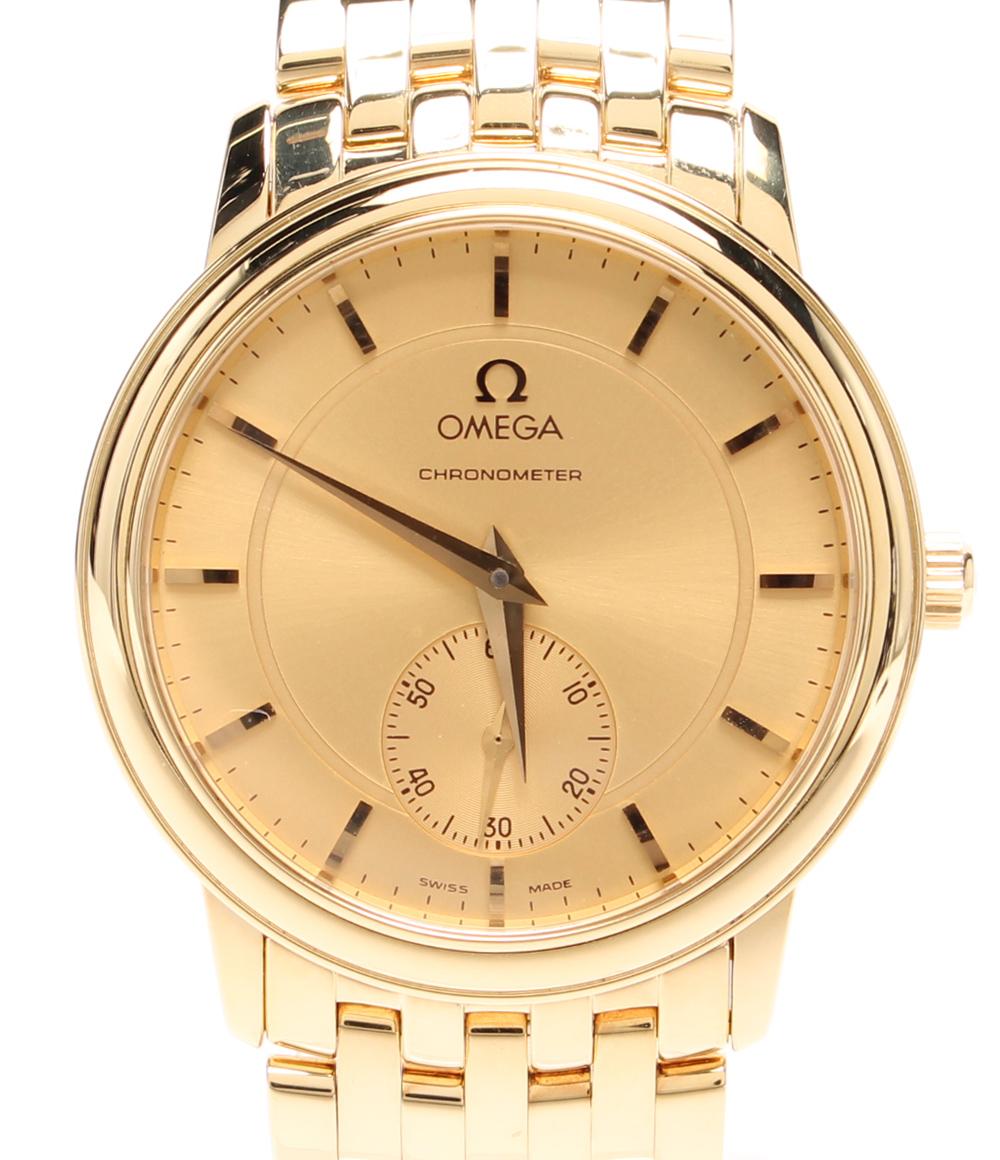【中古】オメガ 腕時計 k18 手巻き ゴールド メンズ OMEGA
