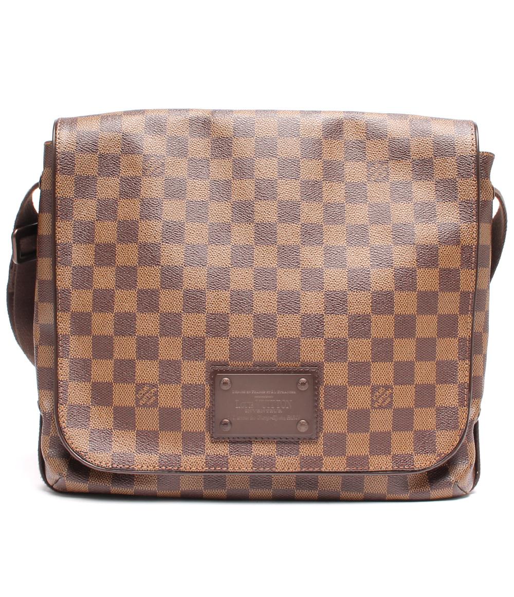 【中古】美品 ルイヴィトン ショルダーバッグ ブルックリンMM ダミエ N51211 メンズ Louis Vuitton