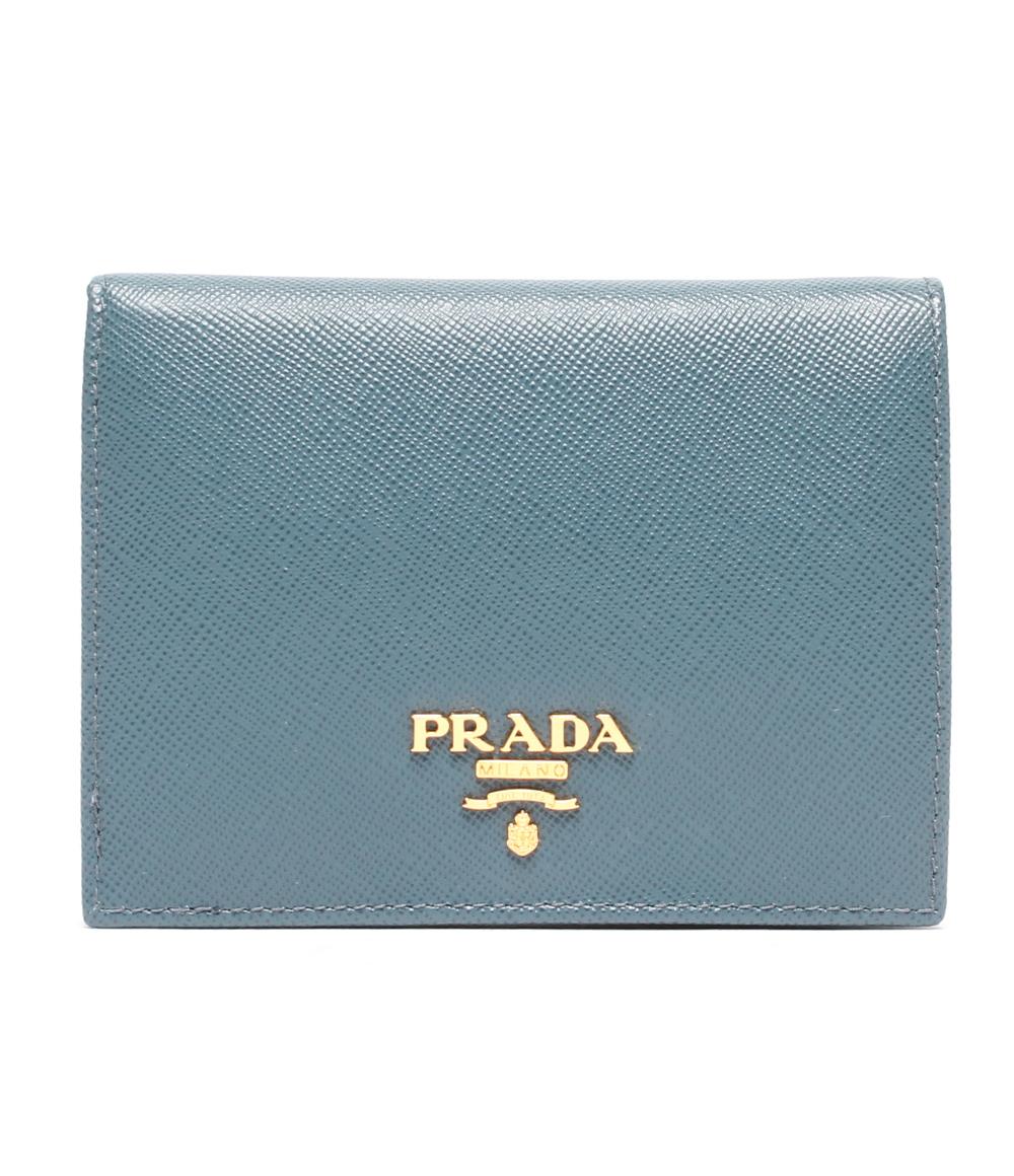 【中古】美品 プラダ 二つ折り財布 サフィアーノ レザー 1M0204 レディース PRADA