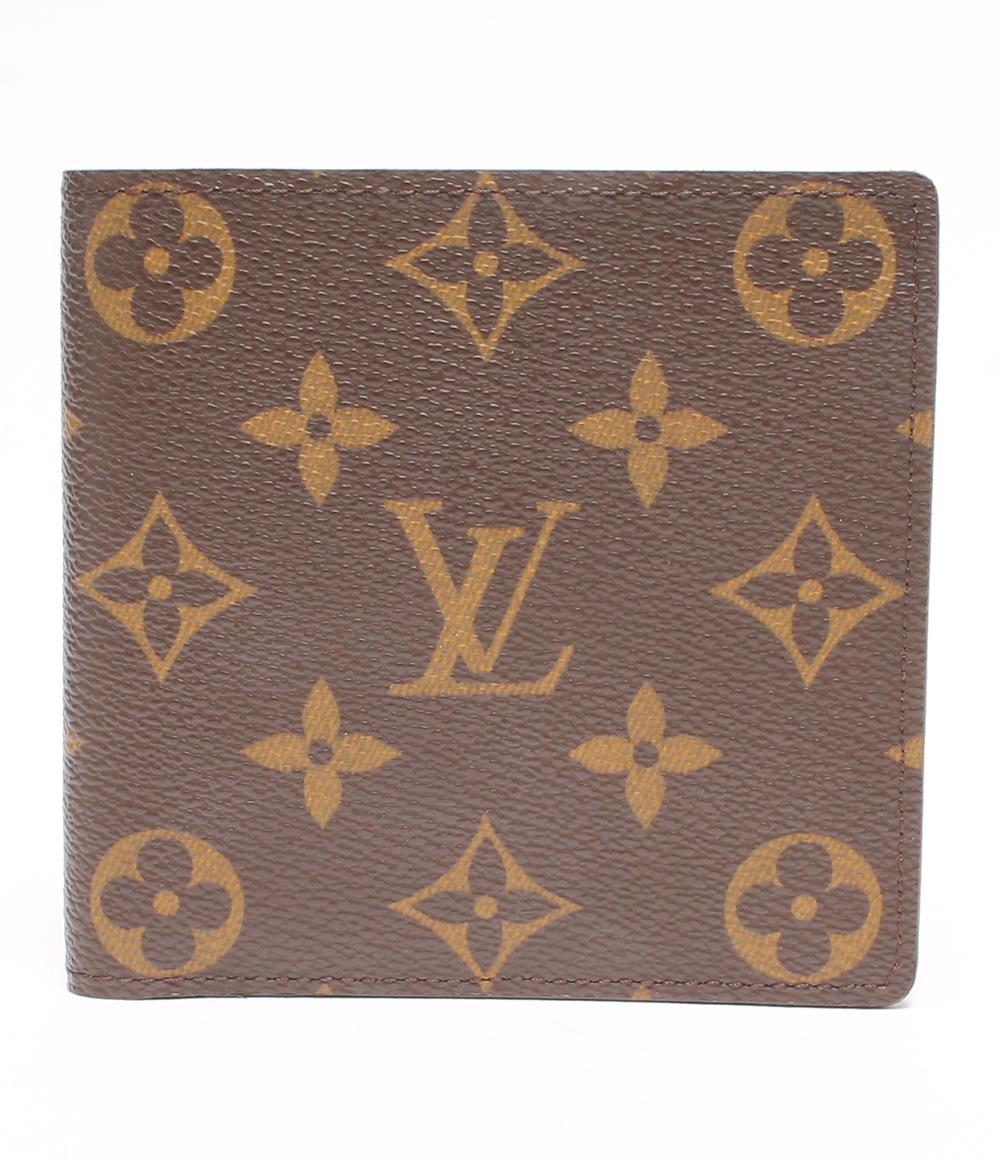 【中古】美品 ルイヴィトン 二つ折り財布 ポルトフォイユ マルコ モノグラム M61675 メンズ Louis Vuitton