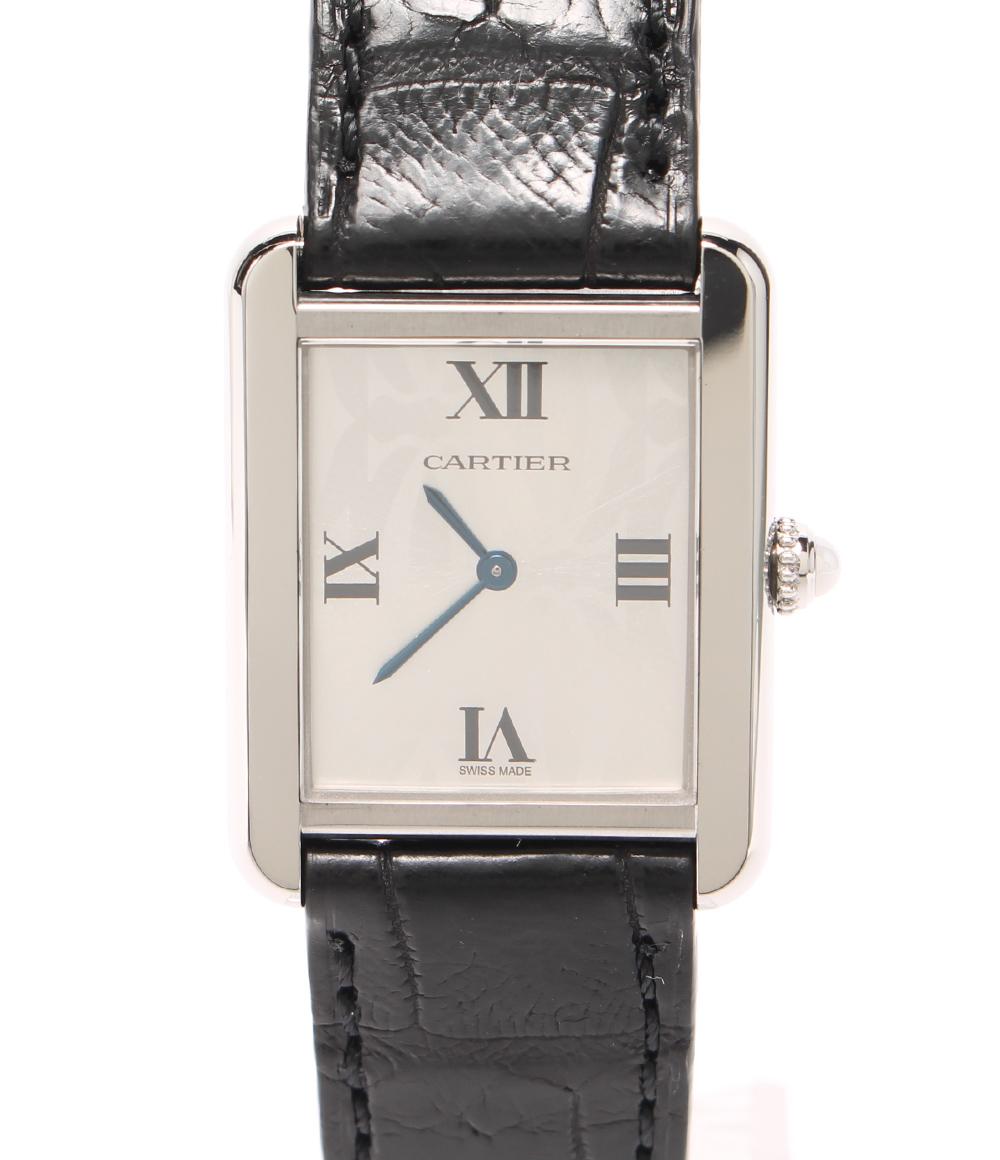 【中古】美品 カルティエ 腕時計 2006X'mas LIMITED タンクソロ クォーツ W1019555 レディース Cartier