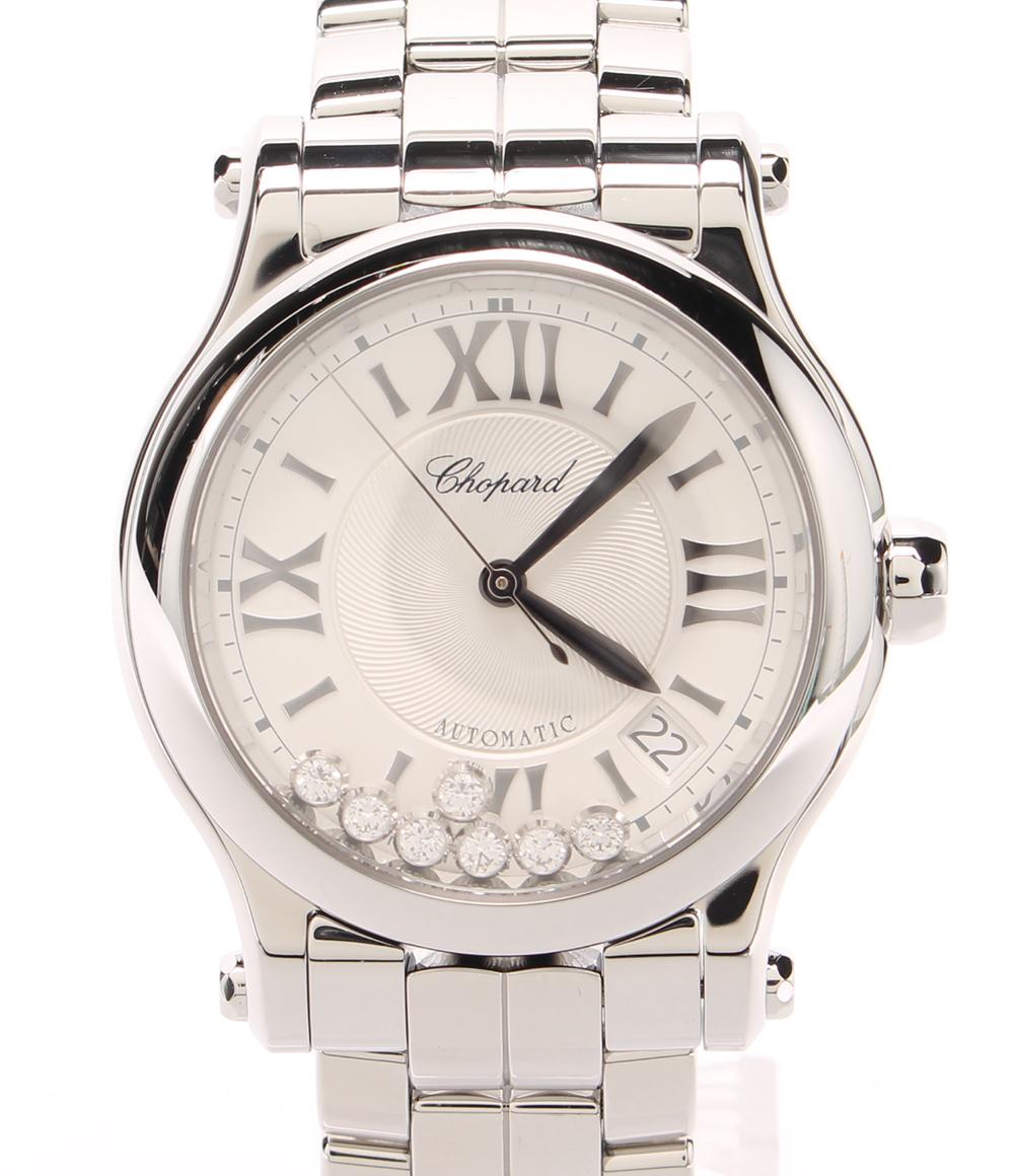 【中古】美品 ショパール 腕時計 ハッピースポーツ36 自動巻き 8559 ユニセックス chopard