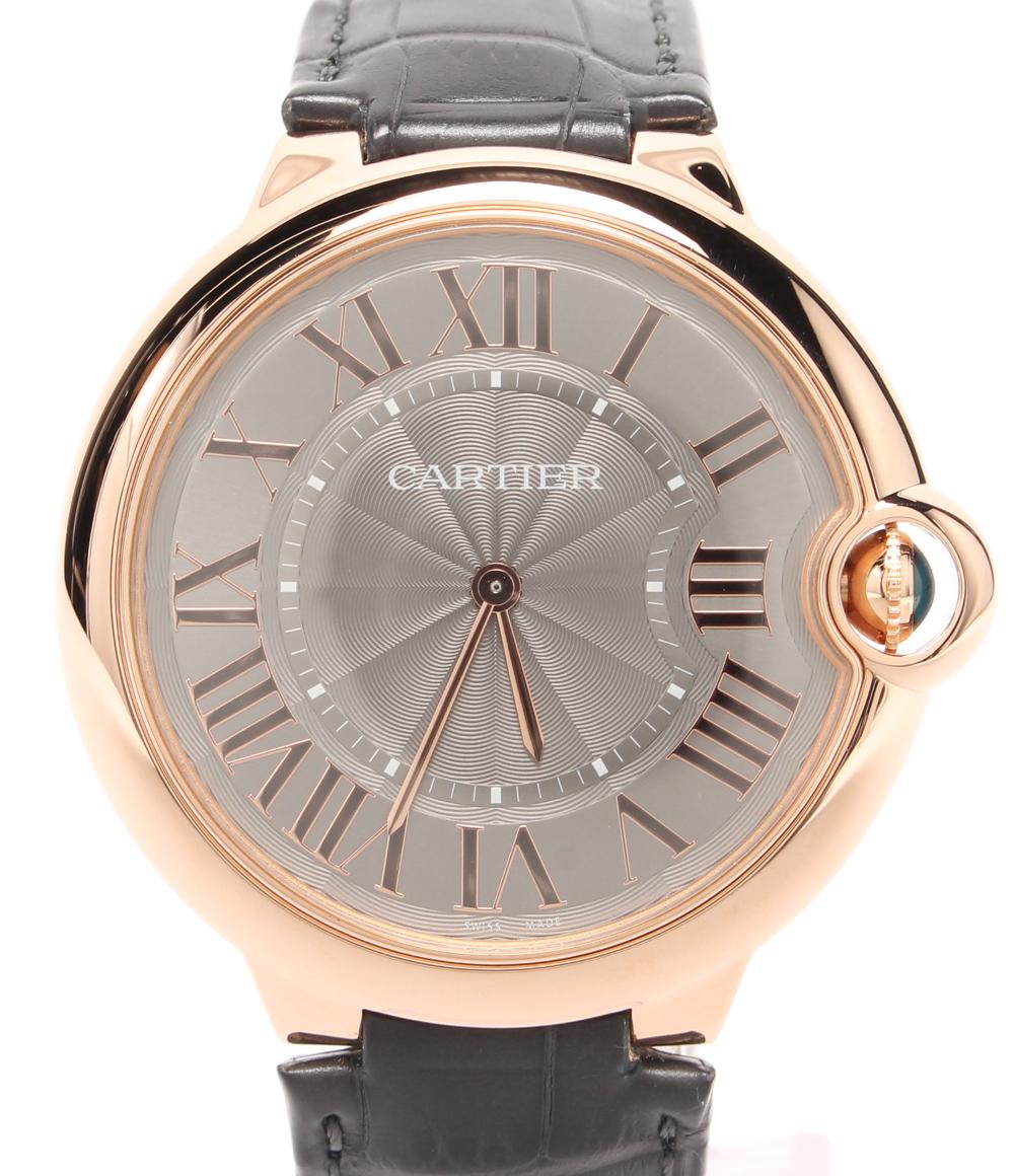【中古】美品 カルティエ 腕時計 バロンブルー 手巻き W6920089 メンズ Cartier