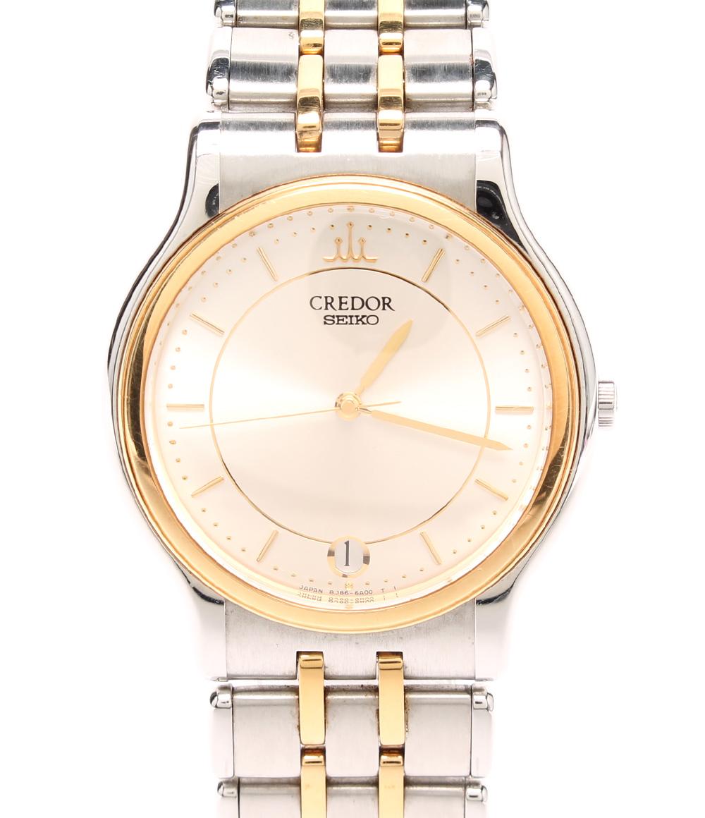 【中古】クレドール 腕時計 クォーツ 8J86-6A00 メンズ CREDOR