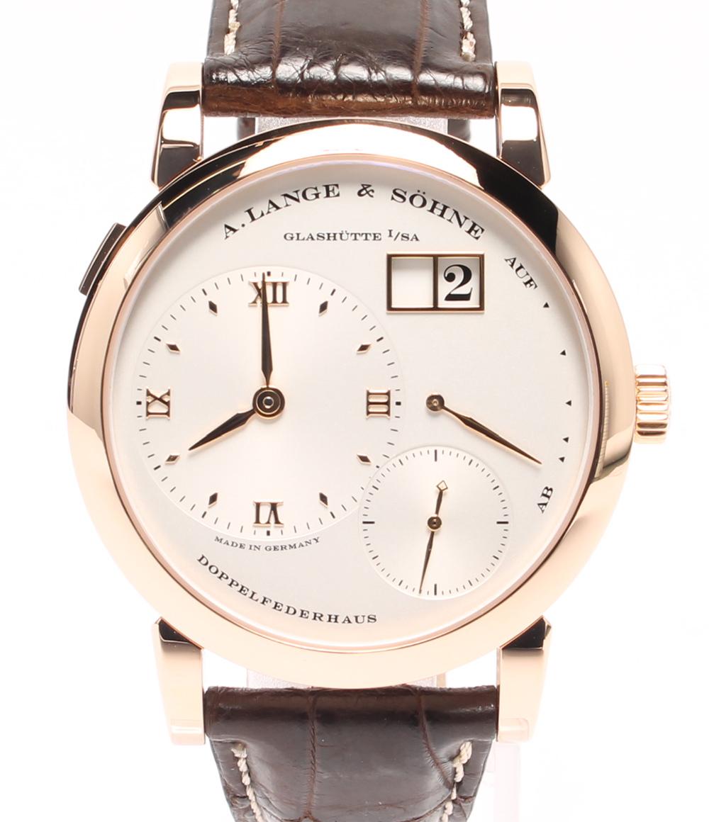 【中古】美品 ランゲアンドゾーネ 腕時計 ランゲ1 手巻き LS1014AD メンズ A.LANGE&SOHNE