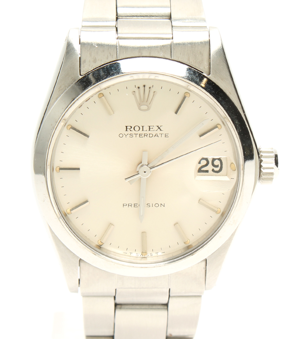 【中古】ロレックス 腕時計 オイスターデイト 手巻き シルバー 6466 メンズ ROLEX