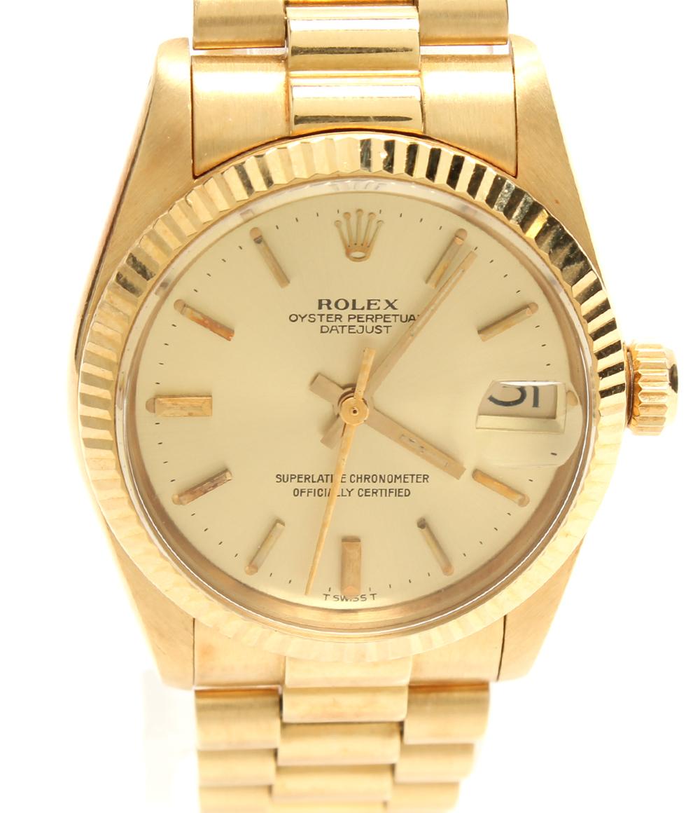 【中古】ロレックス 自動巻き腕時計 デイトジャスト 自動巻き 6827 ユニセックス ROLEX