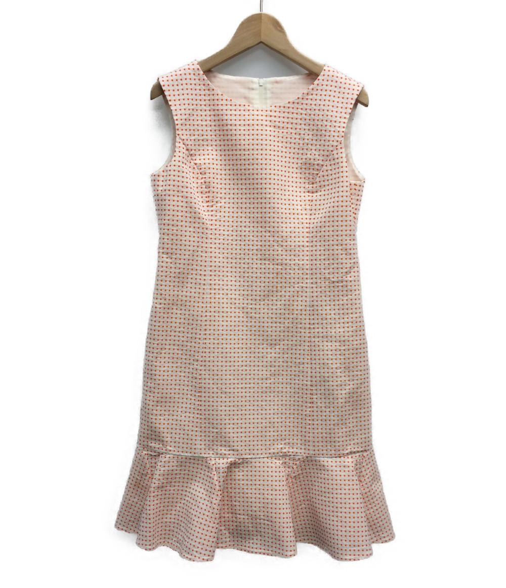 【中古】美品 ルネ ノースリーブ 裾フリルワンピース レディース SIZE 34 (XS以下) RENE