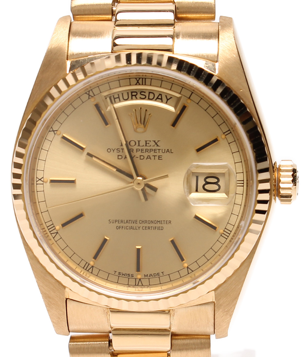 今年も話題の 【】ロレックス 腕時計 デイデイト 自動巻き 18038 メンズ ROLEX, 吉野谷村 ba837695