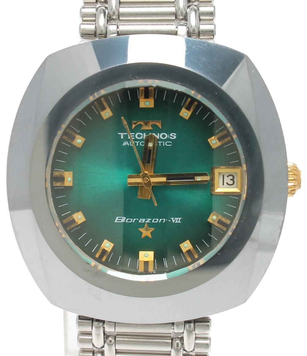 【中古】テクノス 腕時計 ボラゾン7 自動巻き グリーン メンズ TECHNOS