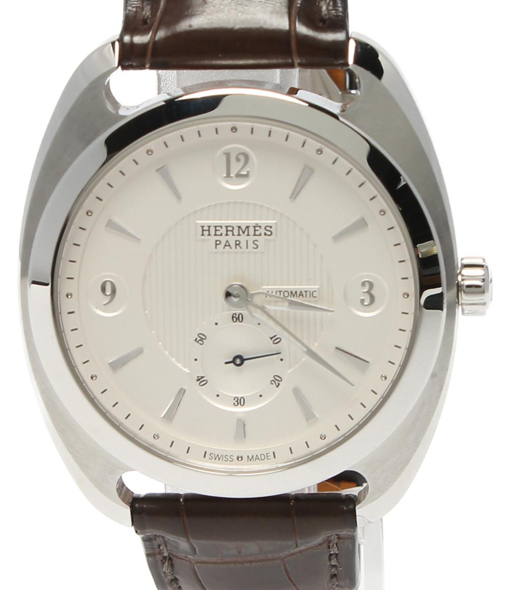 【中古】エルメス 腕時計 □P刻印 アリゲーター ドレサージュ 自動巻き DR5.71B メンズ HERMES