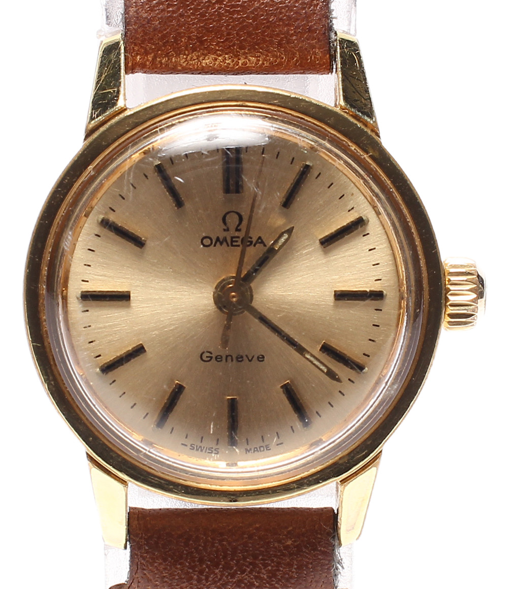 【中古】訳あり オメガ 腕時計 ジュネーブ 手動巻き ゴールド レディース OMEGA