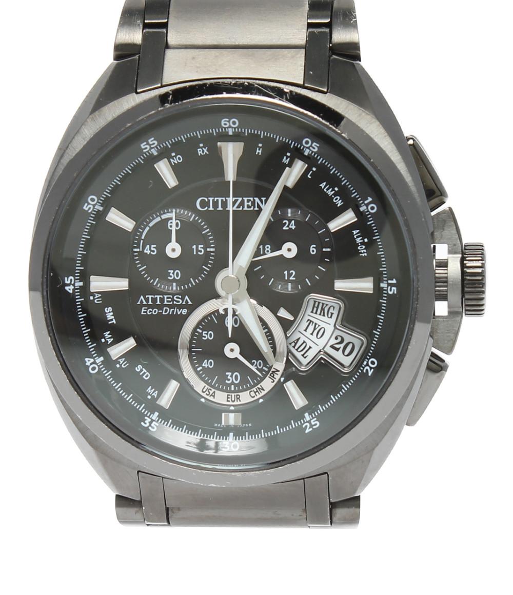【中古】シチズン 腕時計 ATTESA Eco-Drive ソーラー ブラック H610-T015590 メンズ CITIZEN