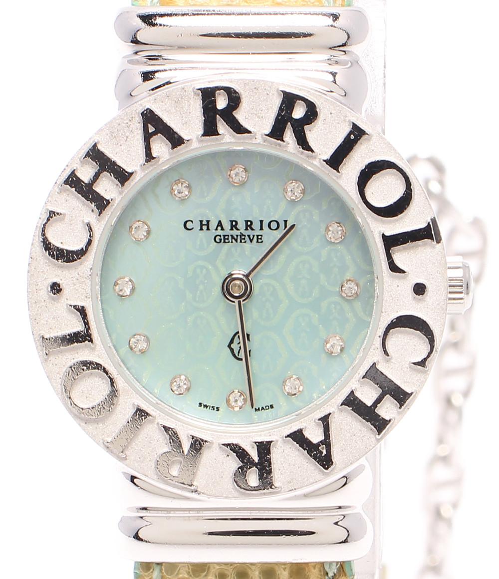 【中古】シャリオール 腕時計 サントロペ クオーツ 028S レディース CHARRIOL