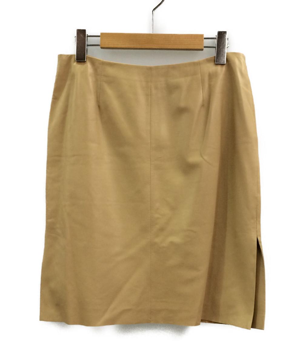 【中古】美品 ロエベ レザー スカート レディース SIZE 40 (M) LOEWE