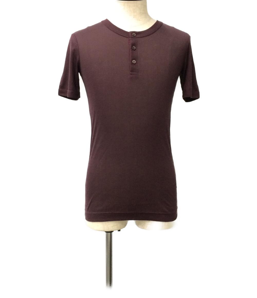 【中古】ドルチェアンドガッバーナ シルク ヘンリーネック 半袖Tシャツ メンズ SIZE 44 (S) DOLCE&GABBANA