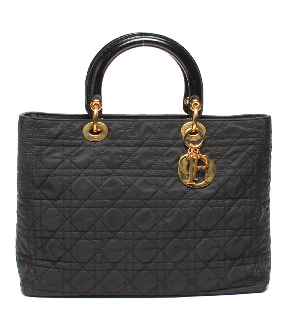 【5/5全品ポイント10倍】【中古】クリスチャンディオール ハンドバッグ カナージュ レディース Christian Dior